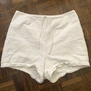 ON SALE 💚 High Waisted Crochet Lace Shorts